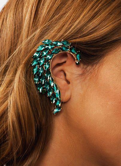 Jeweled Wave Ear Cuff