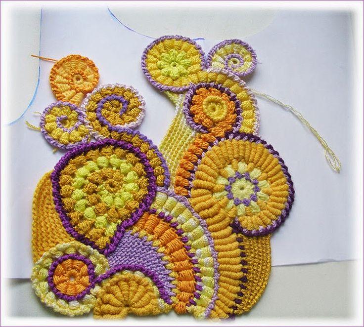 89 best free form images on Pinterest   Crocheting, Freeform crochet ...