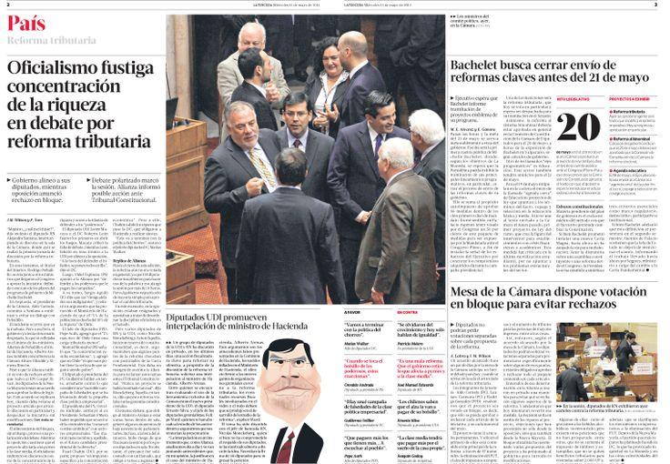 Pagina Diagramada en diario La Tercera