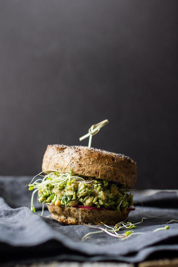 Avocado Pesto Chickpea Salad Sandwiches | healthy recipe ideas @xhealthyrecipex |