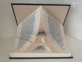 Eiffel Tower folded book by Reading With Scissors