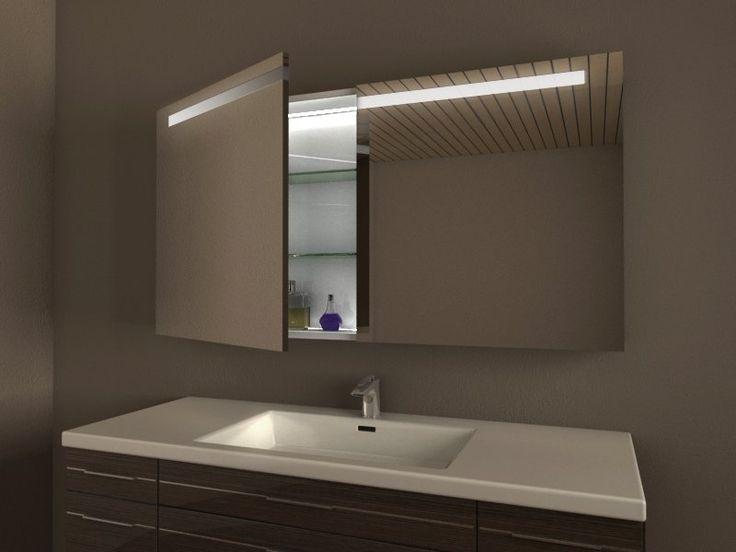 Die besten 25+ Spiegelschrank led Ideen auf Pinterest Bad - spiegelschrank badezimmer 70 cm