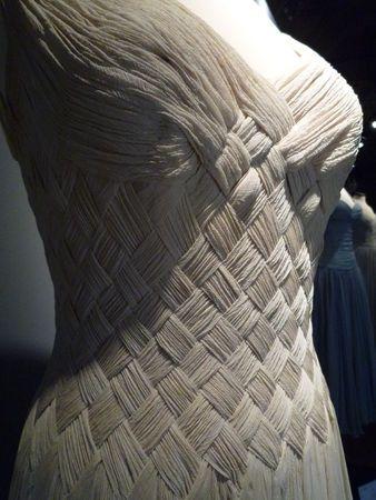 Gattinoni   Robe pour Ingrid Bergman, vers 1955  robe en crêpe de soie couleur ivoire