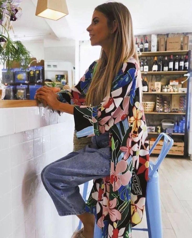 NWT ZARA TROPICAL PRINT OVERSHIRT FLORAL KIMONO Size S 2716/484  #ZARA #Dress #Casual