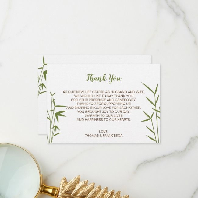 Create Your Own Flat Thank You Card Zazzle Com Wedding Thank You Cards Custom Thank You Cards Thank You Cards