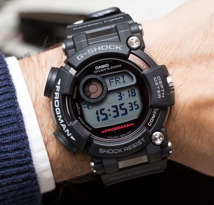 Hands-on review & original photos from Baselworld 2016 of the Casio G-Shock Frogman GWF-D1000 watch with price, specs, & analysis.