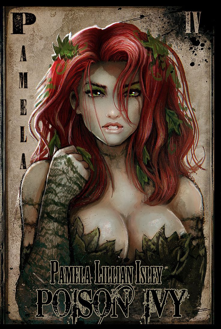 Pamela Lillian Isley - Poison Ivy Sketchbook by John Gibson