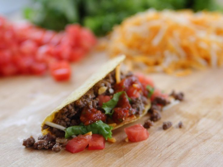 Beef Tacos Recipe : Ree Drummond : Food Network - FoodNetwork.com. I just LOVE the Pioneer woman show. Ree's recipes are delicious and simple