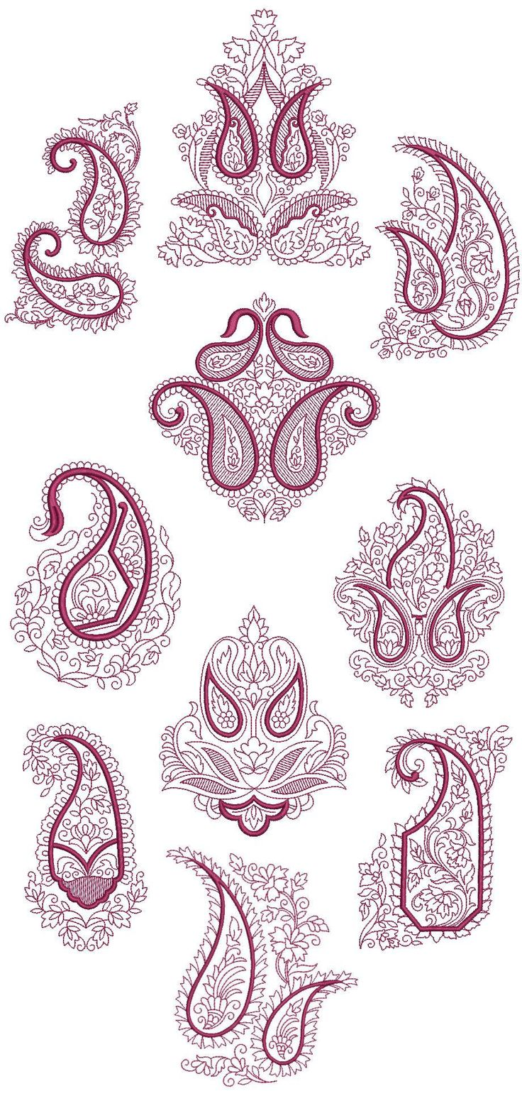 Best 25 paisley embroidery ideas on pinterest diy embroidery paisley redwork quilt blocks machine embroidery designs cd 5x7 brother janome bankloansurffo Gallery