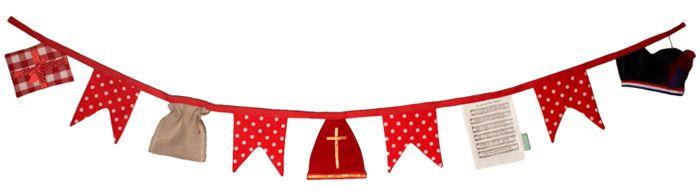 Sinterklaas slinger gemaakt door IGGI voor Sweet Table Shop !