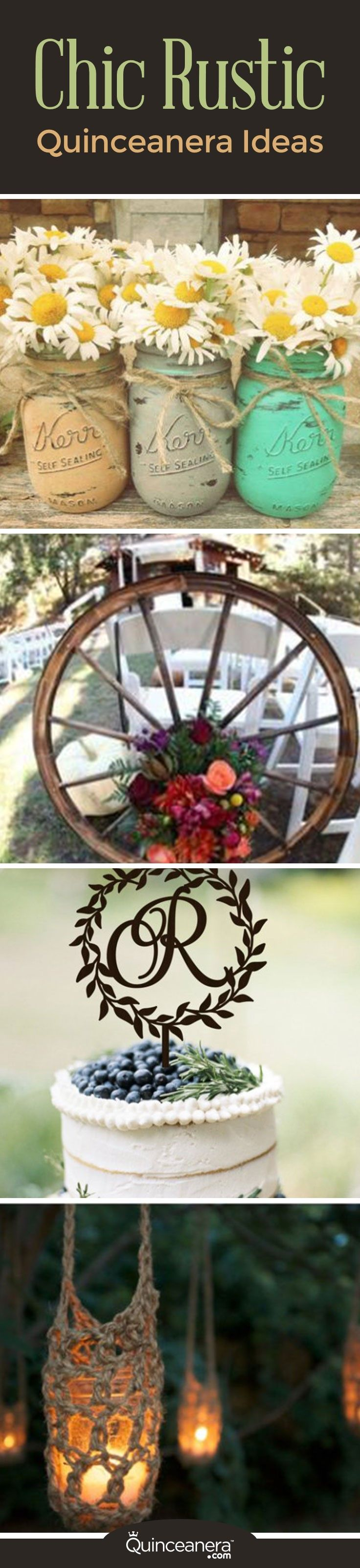 Do you like country music, lace, and vintage decor? Then you may be interested in having a country-inspired quinceanera! Check out our chic rustic quinceanera ideas and inspiration here. One of the benefits of having a rustic quinceanera is that many of the decorations can be done by yourself. - See more at: http://www.quinceanera.com/decorations-themes/chic-rustic-quinceanera-ideas/#sthash.ooDAqknX.dpuf
