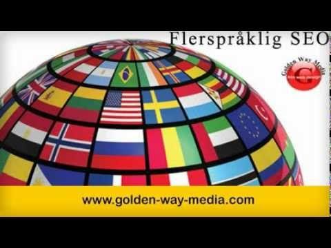 Vi promoterer dine produkter og tjenester på engelsk, norsk, svensk, dansk, tysk,finsk, fransk og islandsk.kontakt Golden Way Media