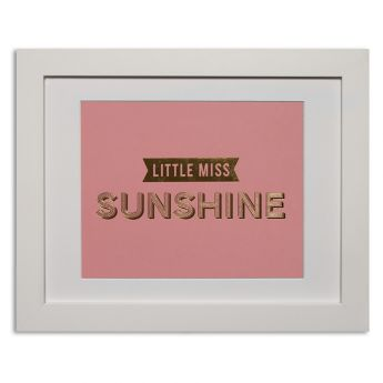 Little miss sunshine - pale pink Papier d'Amour foiled prints range http://www.papierdamour.com.au/shop-by-category/foiled-prints.html