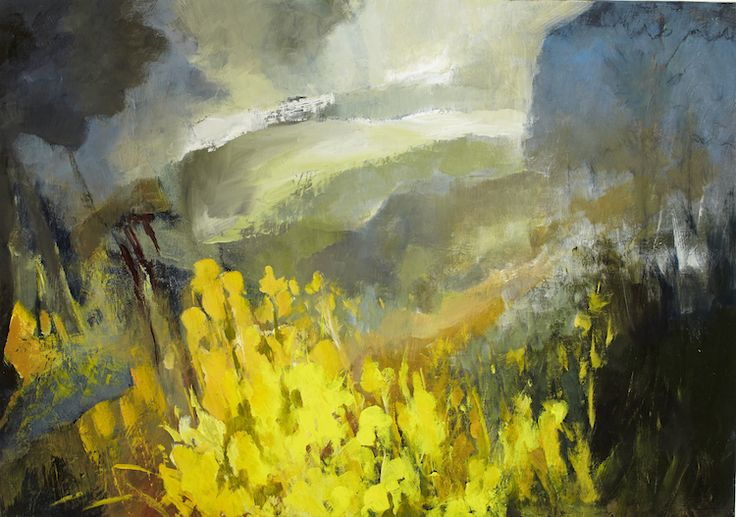 Margaret Egan, Yellow Bloom, oil on linen, 71 x 99cm