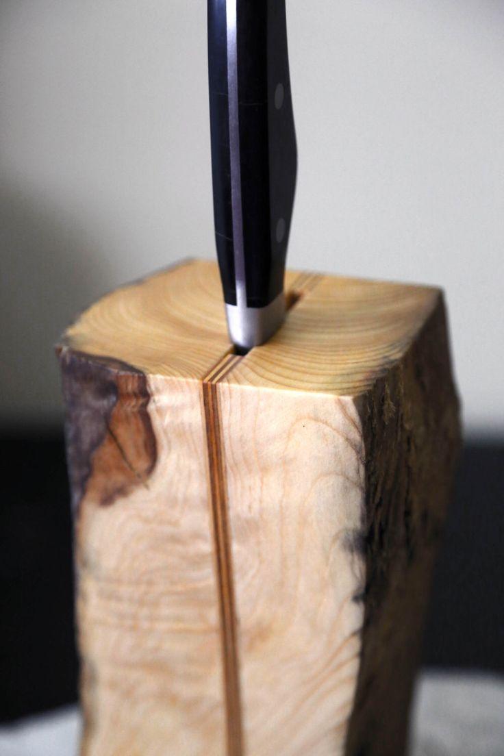 Driftwood Knife Holder. Knife Block. Scandinavian design. Wooden Knife Holder. Kitchen Decor. Free shipping. by Railis on Etsy https://www.etsy.com/listing/130257952/driftwood-knife-holder-knife-block
