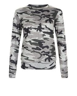 Cameo Rose Green Camouflage Jumper | New Look