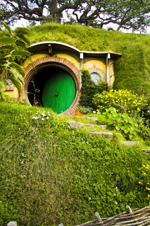 The hobbit hole! Forget a tree house, this is what I'm building my kids!!