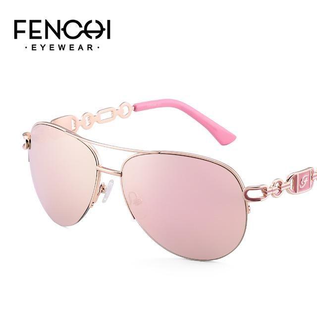 f05a2baabfa Fenchi  Sunglasses Women Driving  Pilot Classic High Quality Metal Fhd0257A