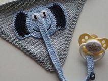 eBook Halstuch mit Elefant-Schnullerkette