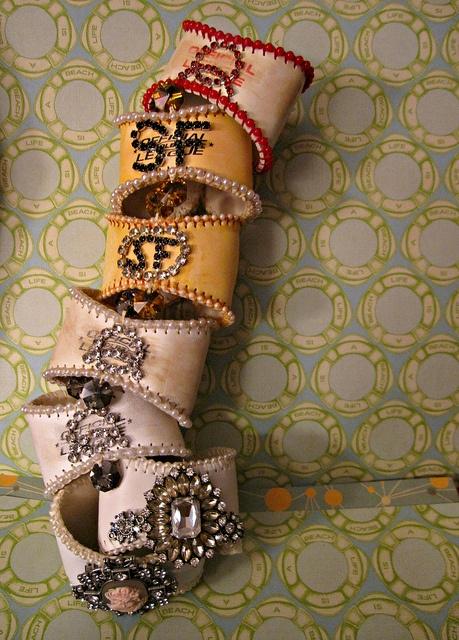 Jeweled Baseball Cuffs by Lisa Kettell, custom baseball bracelets, cuffs, sports