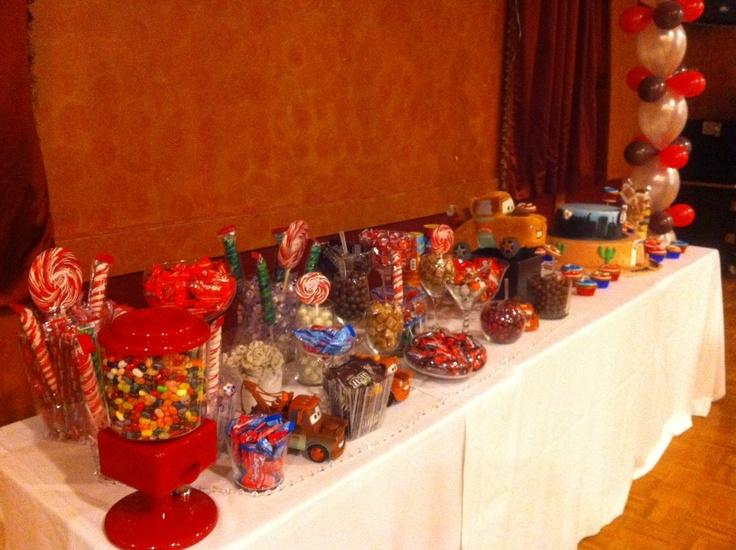 Cars Themed Candy Buffet Candy Bar Pinterest Candy