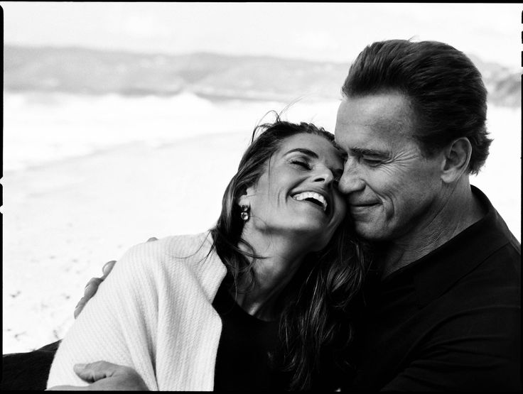 Arnold and Maria during happier times. Image detail for -Annie Leibovitz Baby Pictures