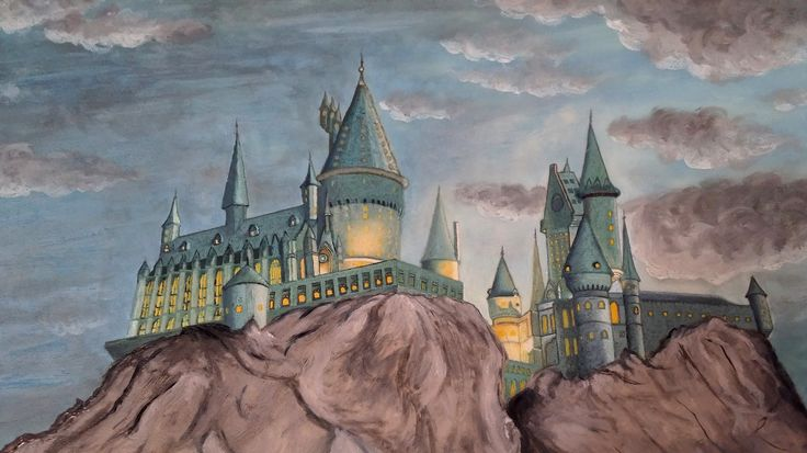Harry Potter Hogwarts - Drawing on sugar