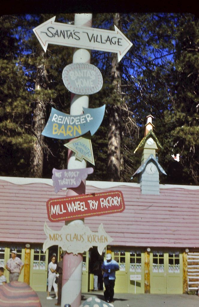 Santa's Village  Lake Arrowhead CA 1950s Another place the kids loved in the winter.