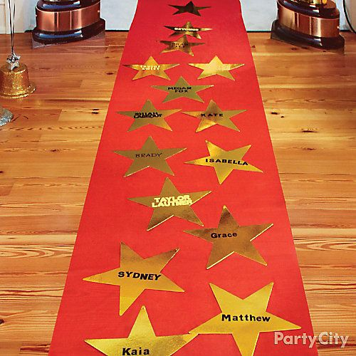 Red Carpet Hollywood Theme Party Ideas