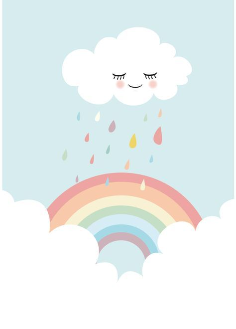 """Bilder – Kunstdruck / Bild """"Regenbogen"""" – ein Designerstück von Mimirella-aus-L… – Michaela Lorsong"""