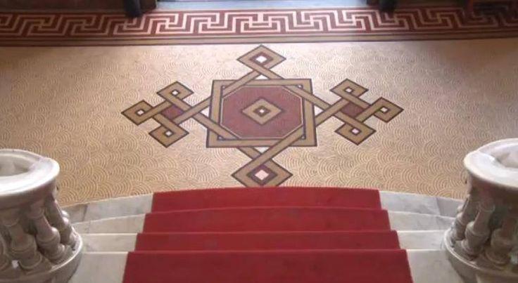 Piso - Mosaico. Saguão de entrada - Museu Nacional Belas Artes ❄️ RJ