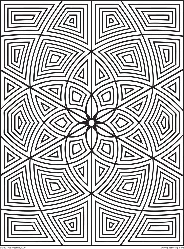Free Geometric Design Coloring Pages Images Crazy Gallery ...