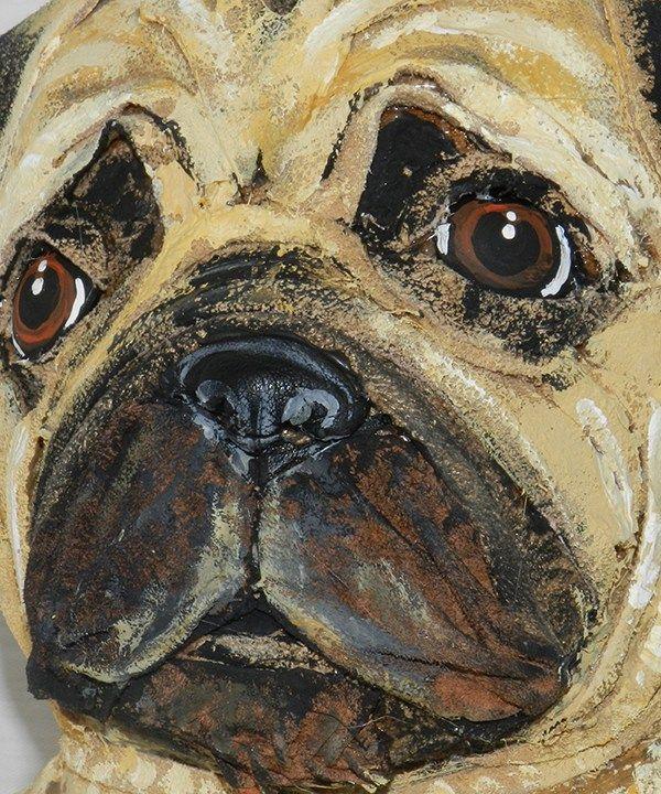 Milo the Pug closeup