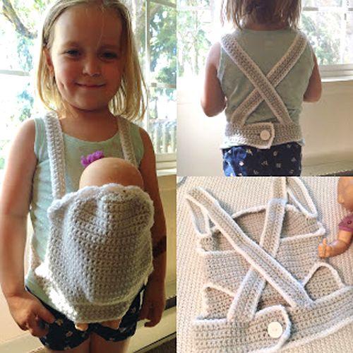 Crochet Baby Doll Carrier - Free Pattern