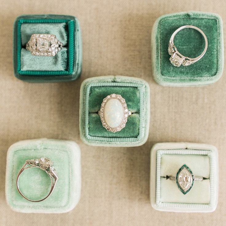 Green Fever   Vintage Engagement Rings from Victor Barbone Jewelry! These rings are incredibly unique and come in a variety of styles!