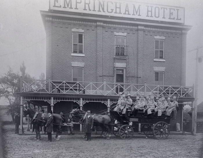Empringham Hotel (1890s-1913), Danforth Avenue, southwest corner Dawes Road, 1907
