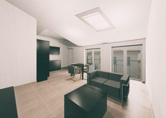 Ristrutturazione interni arredo duplex casa di vacanza for Log casa architetti