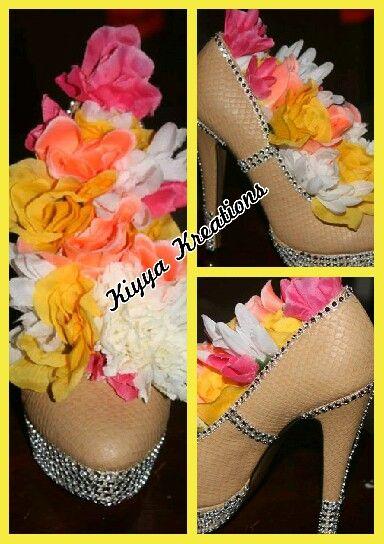 High heel centerpiece al nacak eyler flowers