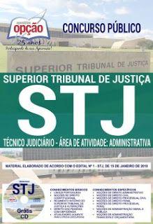apostila concurso publico stj 2018 Tecnico Judiciario area administrativa