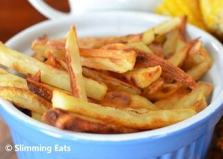 Baked Oven Fries  #potatoes #fries #baked #lowfat #healthyeating