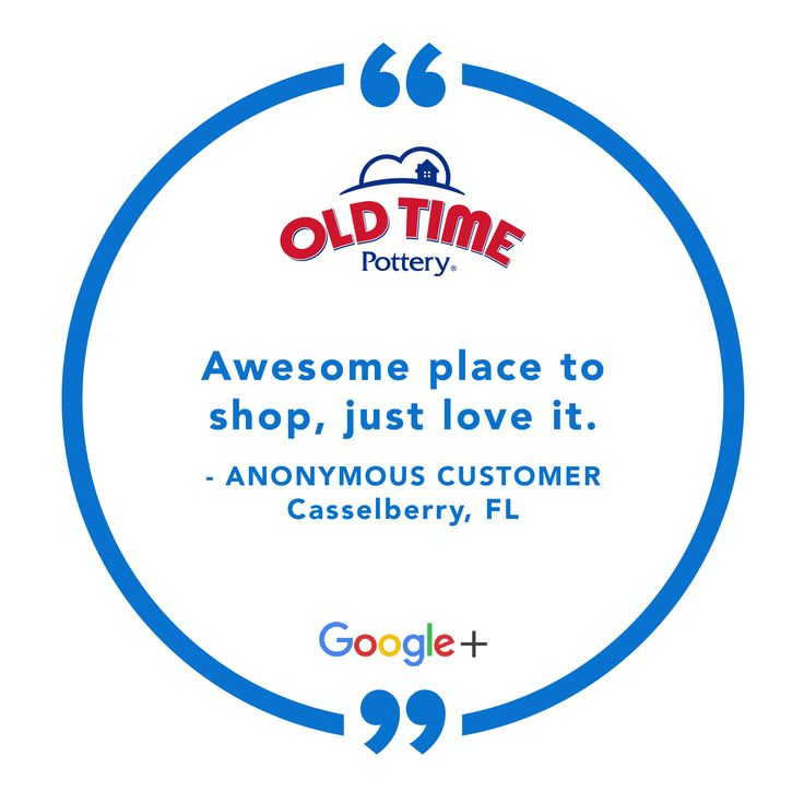 Thanks for the kind words! What's your favorite thing about Old Time Pottery? #AdventuresWithOTP