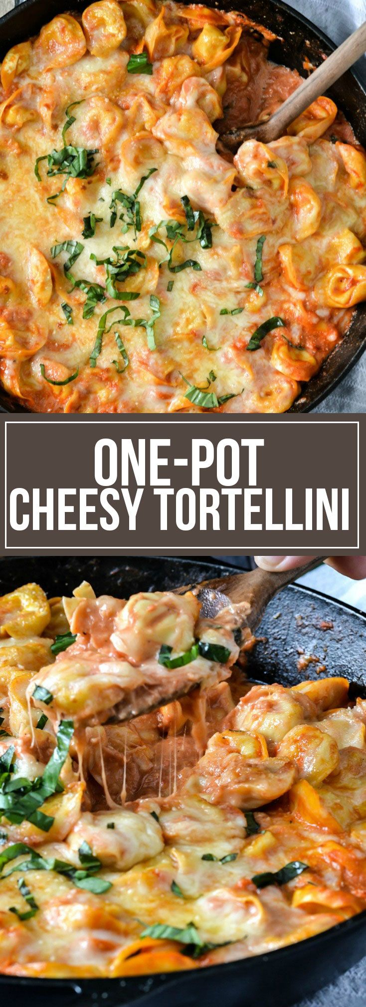 This easy One-Pot Cheesy Tortellini will become a family favorite! It's full of flavor made with a easy homemade sauce topped ready in about 30 minutes!