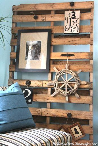 Decoracion de interiores nautica pallet reciclado para hacer uno mismo manualidad rustico DIY recycled pallets for Coastal decoration