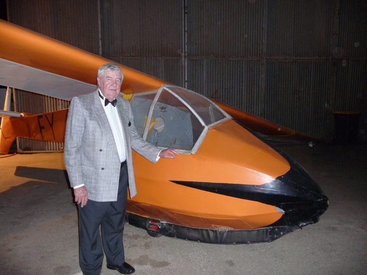 An old man and his old glider.
