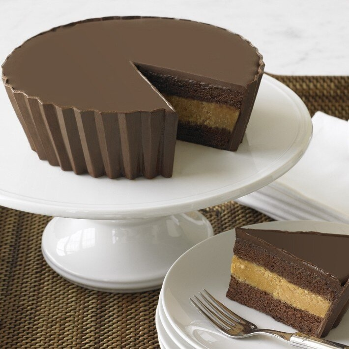 Giant Chocolate Peanut Butter Cup Cake