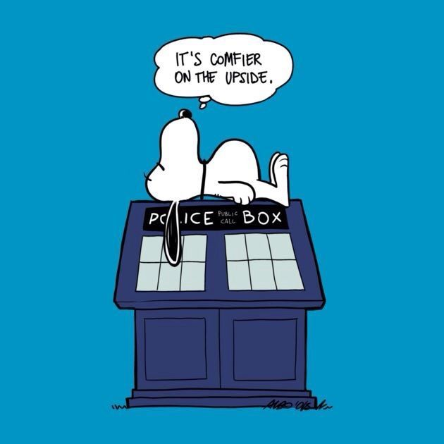 Snoopy Tardis - Doctor Who