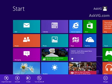 [Start Screen] How to Pin, Resize, Move, Close or Uninstall Metro App Tiles in Windows 8 and Later?