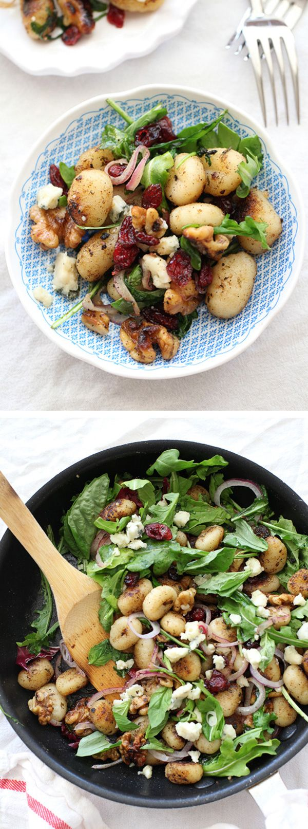 This savory salad is perfect for a meatless main or side dish | foodiecrush.com