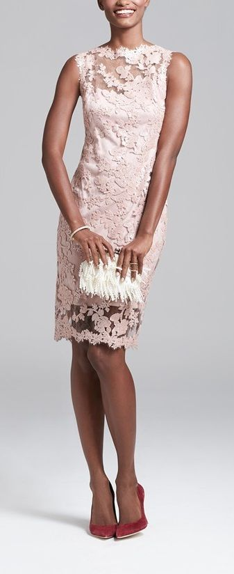 Embroidered lace dress, Mother-of-the-Bride Dresses! coral  women fashion outfit…
