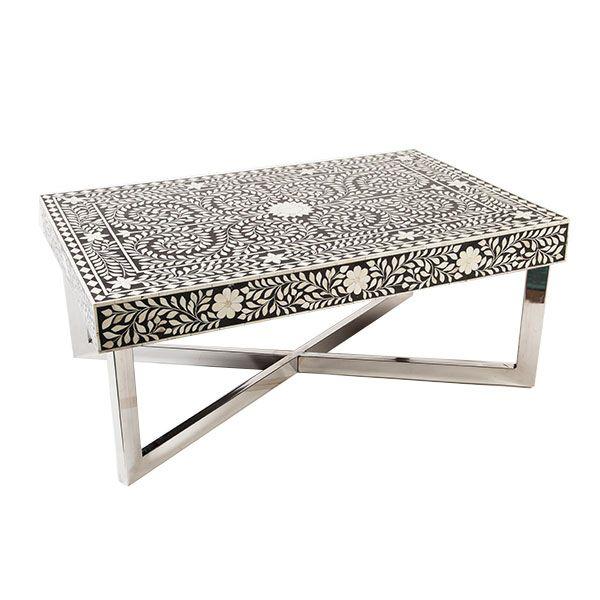 Indian Bone Inlaid Coffee Table. Moroccan TableCoffee TablesBonesLow ...